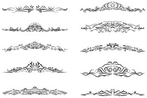 Elegant dividers clipart set
