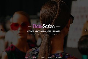 Hair Salon Responsive One Page Theme