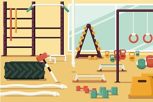 Gym Colorful Illustration