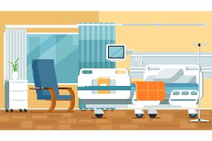 Hospital Room Illustrations