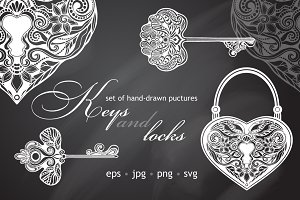 Keys and Locks Vector Set