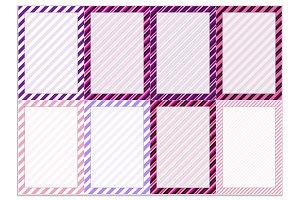 Journal Cards (Diagonal Stripes)