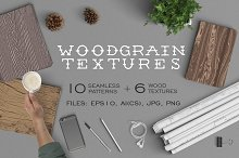 Woodgrain textures. Vector patterns