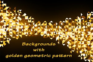 Backgrounds with geometric pattern