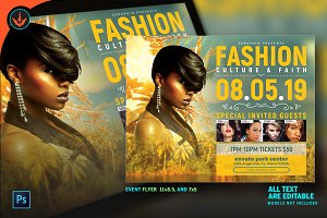Tropical Fashion Show Flyer