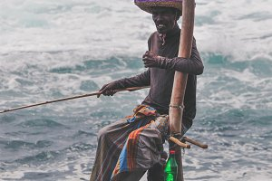 Sri Lankan Stilt Fisherman