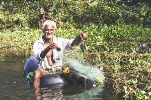 Lake Fisherman Sri Lanka