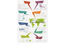 Infographic with world map for presentation design