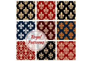Fleur-de-lys french royal seamless pattern
