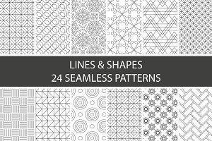 Lines & Shapes - 24 patterns