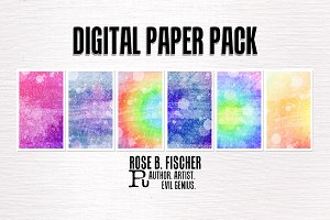 Digital Paper Pack (Tie Dye Grunge)