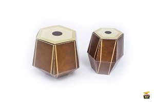DIY Indian Drum Favor -3d papercraft