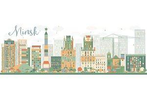 Abstract Minsk skyline