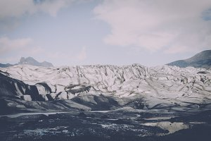 Glacier Landscape in Vintage Colors
