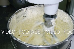 cream cake whipped in the mixer