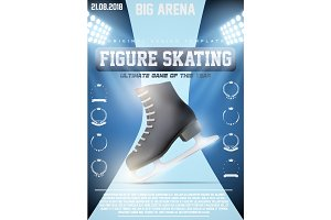Poster Template of Ice figure Skating