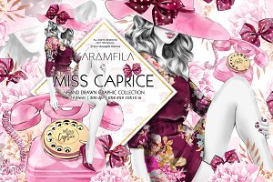 Miss Caprice Clipart