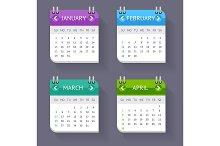 Calendar Quarter Month Set.