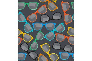 Glasses Hipster Background Pattern