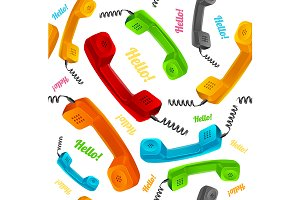 Phone Call Background Pattern