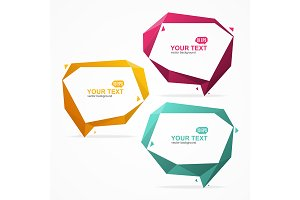 Bubble Speech Banner Card Set