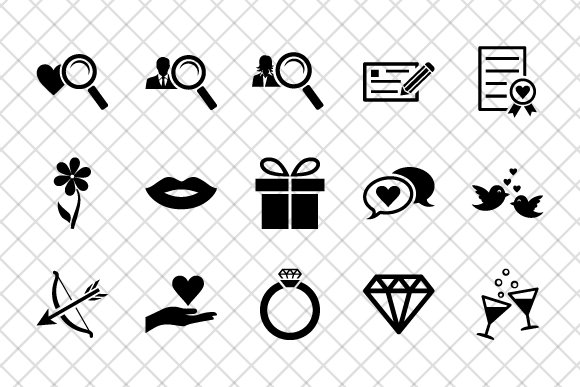 Dating icon set in Icons - product preview 1