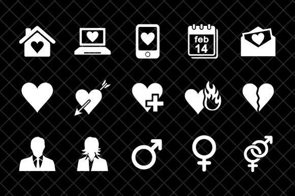 Dating icon set in Icons - product preview 2
