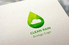 Ecology Clean Rain Logo