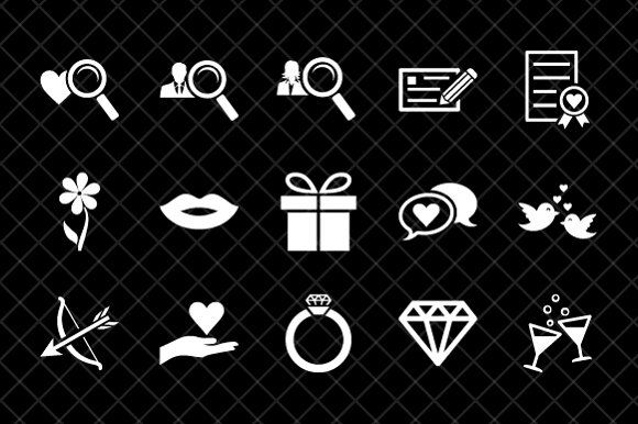 Dating icon set in Icons - product preview 3
