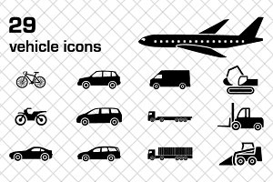29 vehicle icons
