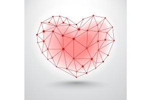 Shiny heart symbol for Valentines Day