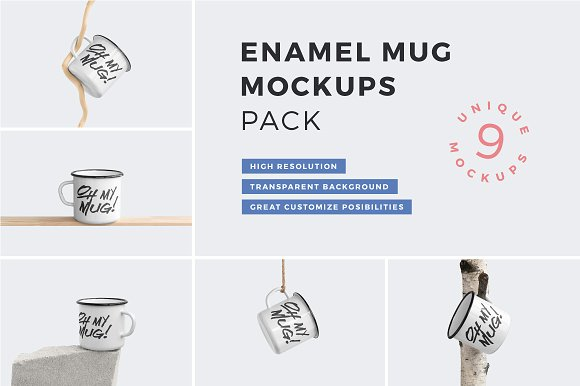 Enamel Mug Mockups Pack Product Mockups Creative Market