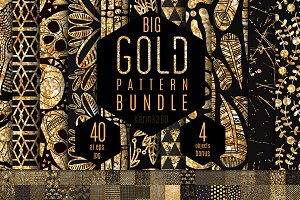 Big Gold Foil pattern bundle