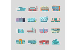 Flat Style Commercial Buildings Collection.