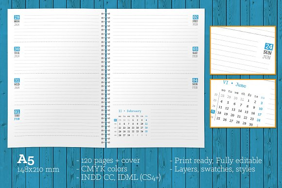 Weekly Planner 2018 (WP008-18) in Stationery Templates - product preview 1