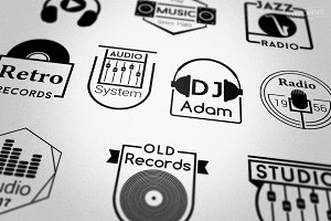 Music Audio Badges Logos
