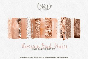 Copper Palette Brush Strokes Clipart