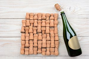 Champagne Blank Label and Corks