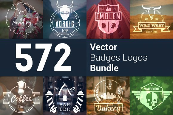 572 Badge Logos Bundle 92% SALE - Logos