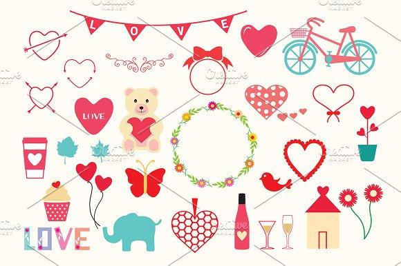 Valentine S Day Elements Vector Illustrations Creative Market