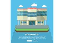Supermarket Web Template in Flat Design