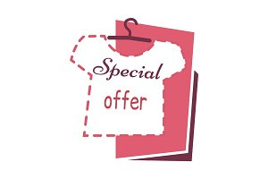 Special Offer. Sale on T shirts Banner. Buy Now