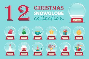 Christmas snowglobe collection