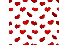 Valentine seamless pattern with shiny hearts