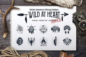 Wild at Heart (Vintage Badges/part2)