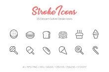 25 Desset Outline Stroke Icons