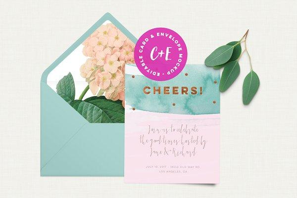 Eucalinen Card & Envelope Mockup