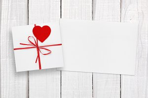 Valentines Day card and gift box