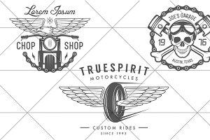 Vintage biker logos (Set #3)