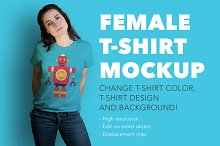 Denisa vol.2 – female t-shirt mockup